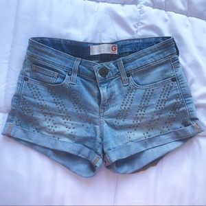 G by guess denim shorts